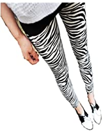 LSWA Leggings in Röhr Jeans Hose PU leder Straps Tattoo graffiti look 34/36/38/40/42/