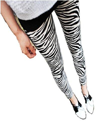 Destress Tattoo Leggings Magazine Print Style Comic Destroy Graffiti Muster Zebra Muster1006a...
