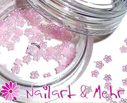 Romantique Boîte de perles de Nail Art : Fleurs 1,5 mm rose