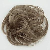 PRETTYSHOP Postizo Coletero Peinado alto, rizado, Moño descuidado,natural de rubio # 103