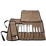 CHENGYI Utility - Rullo per coltelli da Cuoco con 13 Fessure, Resistente Tessuto Oxford Impermeabile, Portatile, Multifunzione, con Tracolla CYGJB345-A