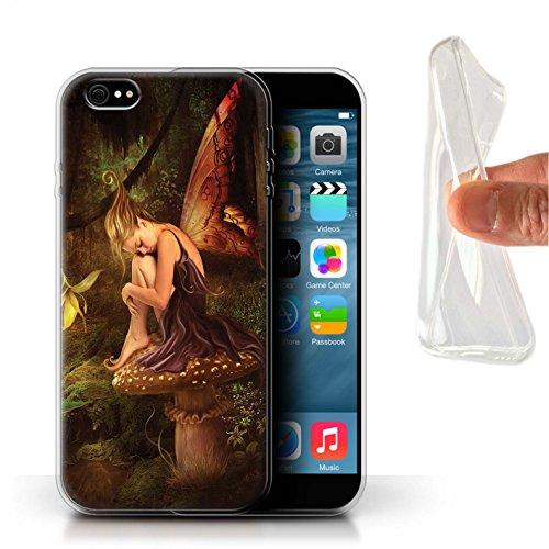 Offiziell Elena Dudina Hülle / Gel TPU Case für Apple iPhone X/10 / Himmel Schneeflocke Muster / Elegante Feen Kollektion Das Magie Wald