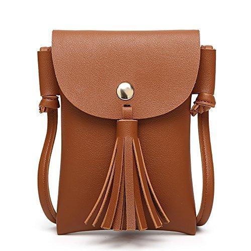 Frauen koreanische Art Messenger / Sling Tasche Cross-Body Tasche Mini Handytasche Brieftasche Tasche (4)