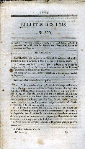 Bulletin des lois n°500 : décret impé...