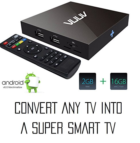 VUUV V2 Smart Android Mini PC / TV Box Quad Core 2 GB / 16 GB 4K UHD  available at amazon for Rs.3990