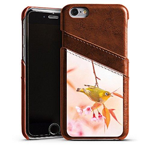 Apple iPhone 4 Housse Étui Silicone Coque Protection Oiseau Petit oiseau Nature Étui en cuir marron