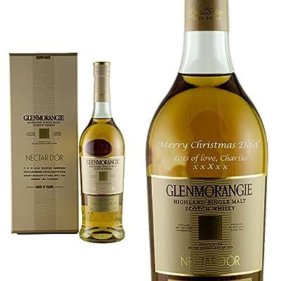 Personalised Glenmorangie Nector D'Or Single Malt Whisky 70cl Engraved Gift Bottle