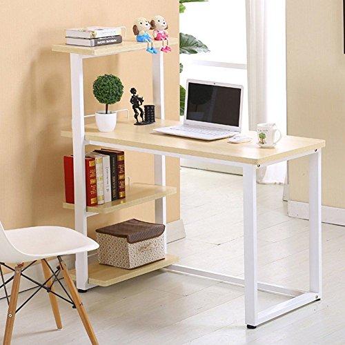 Anaelle-Pandamoto-Bureau-Informatique-Table-de-lordinateur-avec-4-Etagre-sur-Bureau-Maison-Fte-etc-Taile-12050110cm-Poids-21kg
