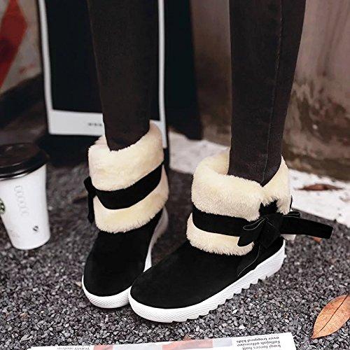 Botas De Nieve Calientes En Zapatos De Mujer Zapatos De Zapatos Casuales Rojos