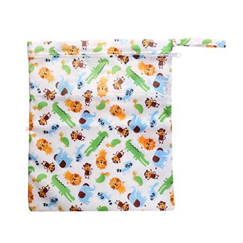Sharplace Baby Wasserdichtem Reißverschluss wiederverwendbare Stoff Windel Tasche - Farbe 1