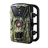 """Trail Kamera, OMorc Spiel und Jagd Wildlife Kamera mit 24 schwarzen LEDs, 8MP 720P HD, 2.4 """"LCD Bildschirm, IP66 Wasser-Proof, ideal für Wildlife Monitoring, Überwachung, Haus Sicherheit usw - Tarnfarbe"""