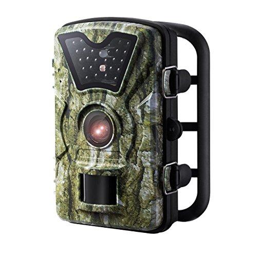 Caméra de Chasse VicTsing Caméra de Jeu Caméra de Poursuite Sauvage avec 24 LED Noire, 8MP 720P HD Ecran LCD 2.4' Imperméable IP66 Étanche, Idéal pour Surveillance de Faune, Sécurité de Maison, etc