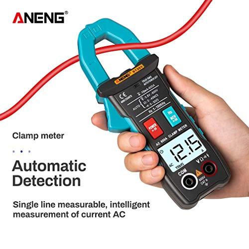 DERNON ANENG Digitalmultimeter Clamp Meter Tragbares Voltmeter Amperemeter Ohm Tester Blau - Power Clamp Meter