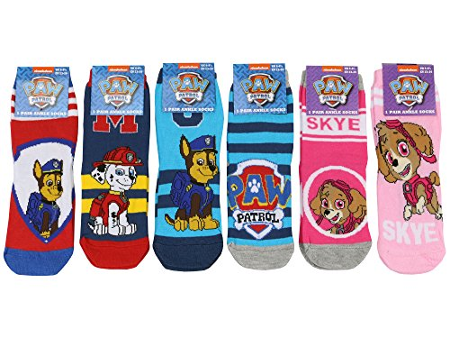 2 Pairs Boys Girls Paw Patrol Chase Marshall Skye Ankle Socks