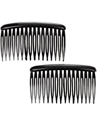 sourcingmap® Femmes 16 Dents Plastique Noir Peigne Épingle À Cheveux Clip 7.9cm Long 2 Pcs