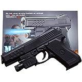 SuperToy(TM) Air Sport Laser Kids Toy Air Gun With Red Laser & Blue Light Pistol