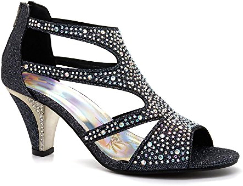 2bf821b0712 New Womens Heel Diamante Mid Kitten B072HSXK8Y Heel Mid Ladies Bridal  Wedding Sandals Party Prom UK Size 3-9 B072HSXK8Y Parent 8e1c434