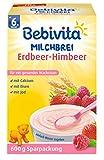 Bebivita Milchbrei Erdbeer-Himbeer, ab dem 6. Monat, 4er Pack (4 x 600 g)