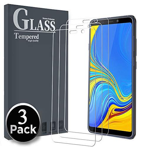Ferilinso Vetro Temperato Samsung Galaxy A7 2018,[3 Pack] Pellicola Protettiva Protezione Schermo in Vetro Temperato Screen Protector Film con Garanzia di Sostituzione a Vita
