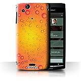 Carcasa/Funda STUFF4 dura para el Sony Xperia Arc S/LT18i / serie: Gotitas de Agua - Púrpura/Naranja