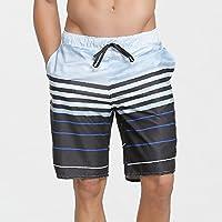XiYunHan Pantalones de playa masculina vacaciones de playa de secado rápido suelto cinco puntos de surf troncos de natación grandes pantalones de verano rápido seco playa de surf suelto (Size : XL)