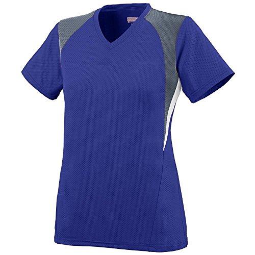 Augusta - T-shirt de sport - Femme Multicolore - Purple/Graphite/White