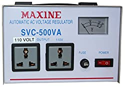 Stabilizer 500 watts with step down 220v to 110v high voltage cutoff 130v Analogue Display