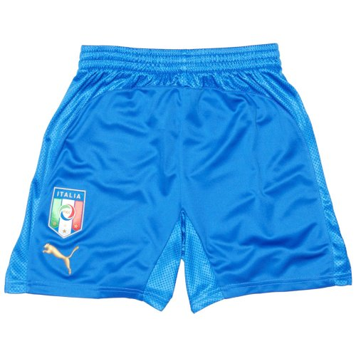 Puma - Pantaloncini da calcio della nazionale italiana (in casa), Blu (blu), M