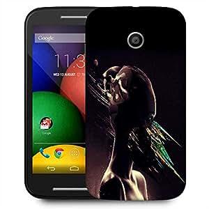 Snoogg Abstract Eyes Designer Protective Phone Back Case Cover For Motorola E / Moto E