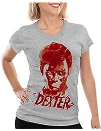style3 Dexter Trace de Sang T-Shirt Femme erie mort morgan trinité tueur en série