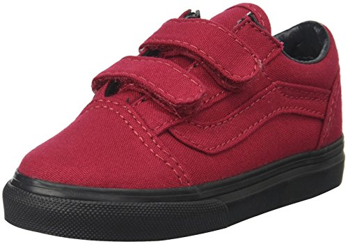 Vans Old School Valcanised, Unisex-Kinder Sneaker, Rot - Jester Red - Größe: 3.5 UK Child - Vans Rote Kleinkinder