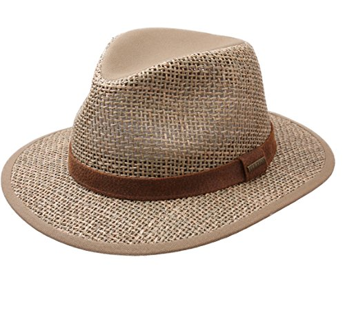 Stetson - Chapeau Fedora Paille Homme Medfield Seagrass - Taille L