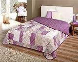 Bett Sofaüberwurf gesteppt 220x240 Überwurf Tagesdecke Decke Plaid Bettüberwurf Spieldecke patchworkdecke, Design - Motiv:Design 7