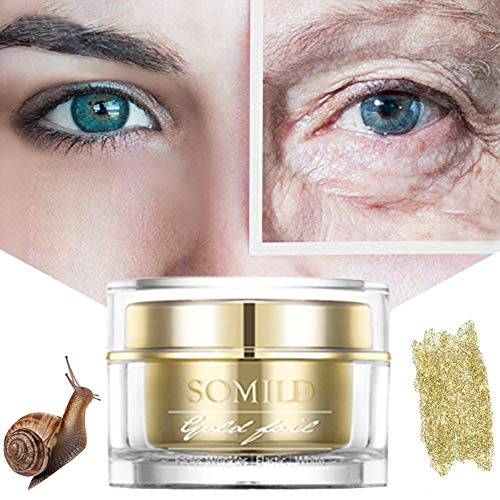 Rowentauk Anti-Aging Gesichtscreme, 24k Gold Face Snail Cream Anti Falten Gesichts...