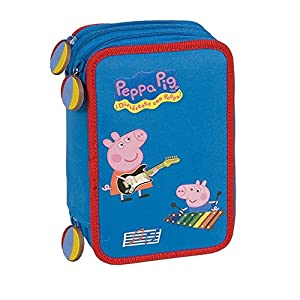 Plumier doble azul music Peppa Pig