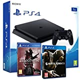 Playstation 4 Console PS4 Slim 1To + Bloodborne GOTY The Old Hunters + Mortal Kombat X - Mega Pack