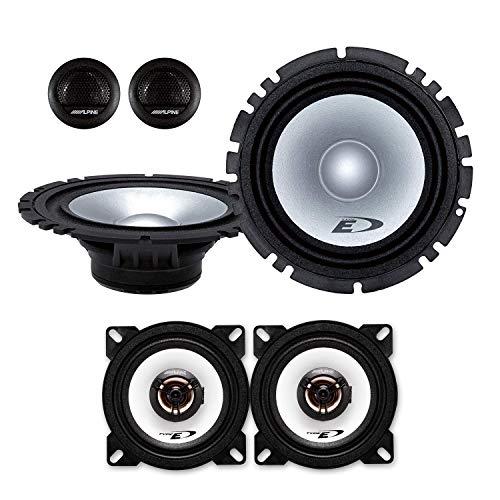 Alpine Front/Heck 16,5cm/10cm Auto Lautsprecher/Boxen/Speaker Komplett-Set kompatibel für OPEL