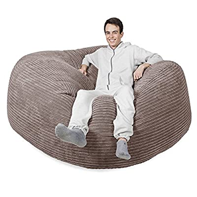 LOUNGE PUG - MEGA MAMMOTH Beanbag MINK Cord - MASSIVE XXL size - ideal for Bedrooms, home and gaming
