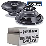 Mercedes C-Klasse W202 Front - Lautsprecher Boxen Axton AE652F | 16cm 2-Wege 160mm Koax Auto Einbauzubehör - Einbauset