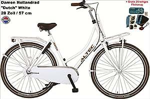 Damen Hollandrad 3 Gang 28 Zoll Altec Transit weiß + gratis Flickzeug (25-teilig)