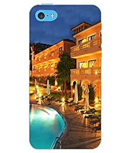 APPLE IPHONE 5C POOL VIEW Back Cover by PRINTSWAG
