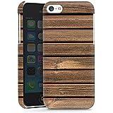 Apple iPhone 5c Hülle Premium Case Schutz Cover Holz Look Holzlatten Planken