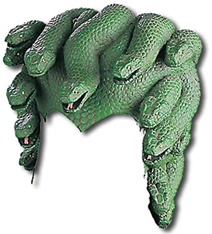 Medusa Kopfschmuck mit Schlangen (Griechische Göttin Kopfschmuck Kostüm)