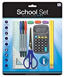 14 Pieces School Set College Office stationary set pens ruler HB pencils calculator