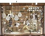 Udane Decorazione di Festa Merry Christmas Wall Sticker Rimovibile Fai da Te Adesivi Finestra di adsorbimento elettrostatico Decorazioni Art Decalcomanie (Colore : E)