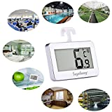Kühlschrank-Thermometer, SUPLONG digitale wasserdichte Kühlschrank mit Gefrierfach Thermometer mit gut lesbarem LCD-Anzeige Lesen Perfekt für Innen / Außen / Home / Restaurants / Bars / Cafés - 7