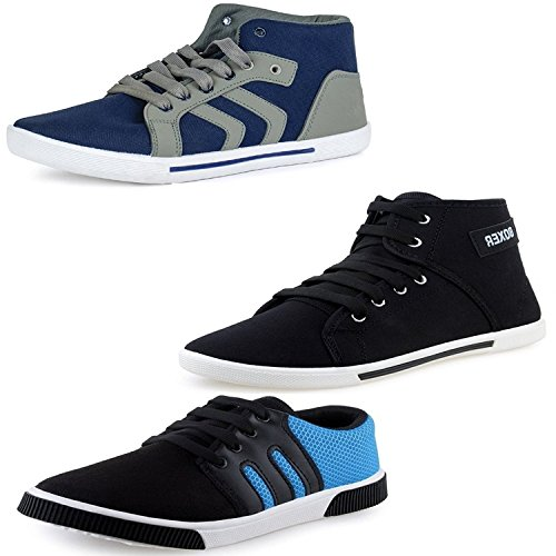 MEN'S NAVY BOOT BOXER AND SNEAKER SHOES COMBO PACK OF 3 (10)