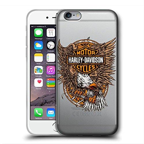 SDGGRGGVCBF Funda iPhone 6 Plus Cases Case Cover Cubierta Protectora  Transparente del Gel del Silicón de TPU del Caso Suave Ultrafino TPU Harley  D
