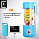 Skyfish Electric Juicer Blender 380Ml Juicer Cup (Included MICRO USB charging cable) (Assorted Color Will Be Send)