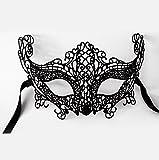 DAYAN La Maschera di Venezia affascinante volpe maschera nightclub partito di Carnevale colore nero